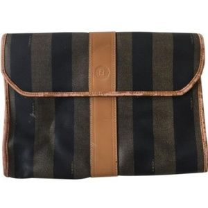 FENDI Vintage Stripe Clutch